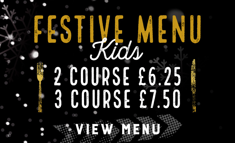 Kids Festive Menu at The Original Oak