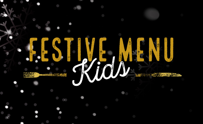 Festive Kids Menu at The Original Oak